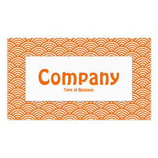 Center Label - Fish Scale - Orange & White Pack Of Standard Business Cards