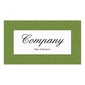 Center Label - Green Embossed Texture Pack Of Standard Business Cards