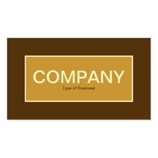 Center Label II - Golden Brown with Brown 57320F Pack Of Standard Business Cards