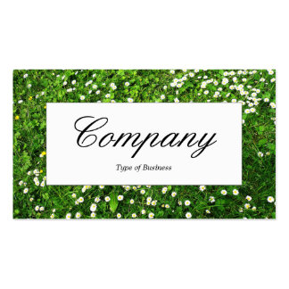 Center Label - Lawn Daises Pack Of Standard Business Cards