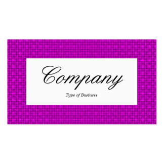 Center Label - Magenta Fabric Texture Pack Of Standard Business Cards