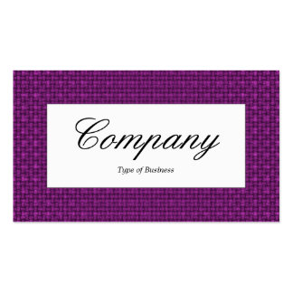 Center Label - Magenta Purple Fabric Texture Pack Of Standard Business Cards