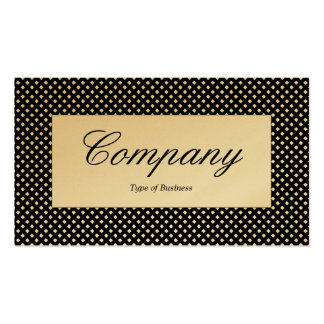 Center Label - Net Texture - White - Gold Card Pack Of Standard Business Cards