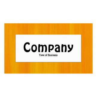 Center Label - Painted Orange Pack Of Standard Business Cards
