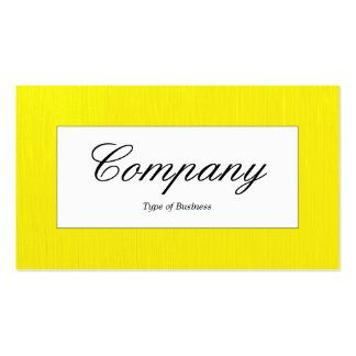 Center Label - Painted Yellow Pack Of Standard Business Cards