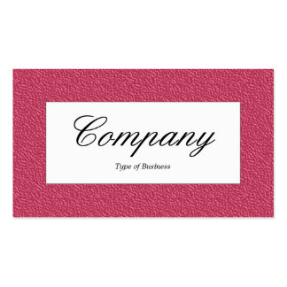 Center Label - Red Embossed Texture Pack Of Standard Business Cards