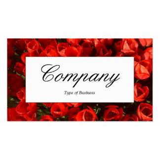 Center Label - Red Tulips Pack Of Standard Business Cards