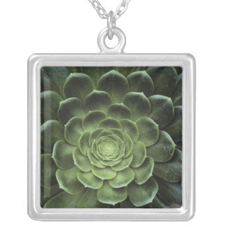 Center of Cactus Silver Plated Necklace