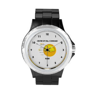 Center Of Cell Command Inside Nucleus Biology Wrist Watches
