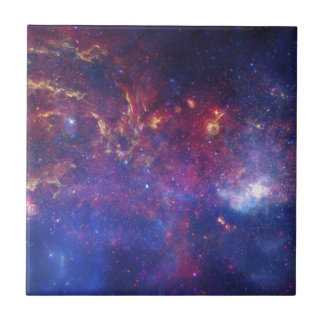 Center of the Milky Way Galaxy Small Square Tile