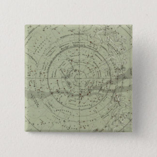Center of the Southern Sky map 15 Cm Square Badge