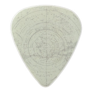 Center of the Southern Sky map Acetal Guitar Pick
