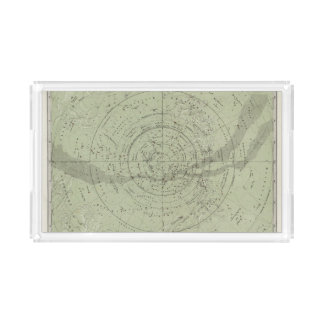 Center of the Southern Sky map Acrylic Tray