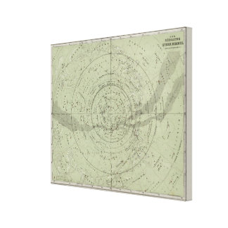 Center of the Southern Sky map Canvas Print