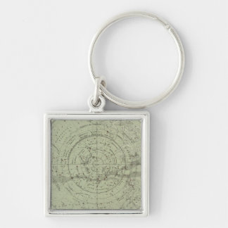 Center of the Southern Sky map Key Ring