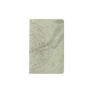Center of the Southern Sky map Pocket Moleskine Notebook