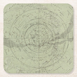 Center of the Southern Sky map Square Paper Coaster