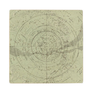 Center of the Southern Sky map Wood Coaster