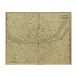 Center of the Southern Sky map Wood Wall Decor