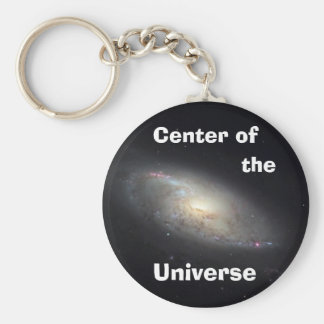 Center of the Universe Basic Round Button Key Ring