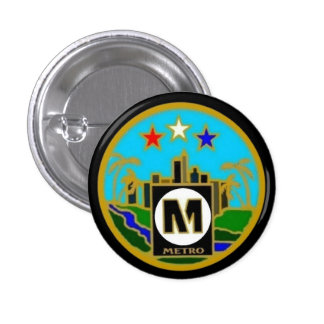 Center Seal- Los Angeles Metro Buses 3 Cm Round Badge
