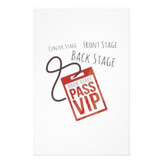 Center Stage Stationery Design