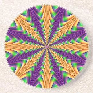 Centerpoint in Purple Orange and Green Coaster