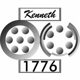 Centesimal 1776 photo sculpture keychain
