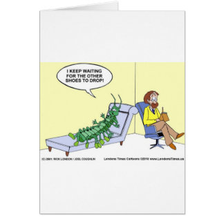 Centipede In Therapy Funny Gifts Tees Mugs Etc Greeting Card