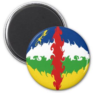 Centrafrique Gnarly Flag Fridge Magnets