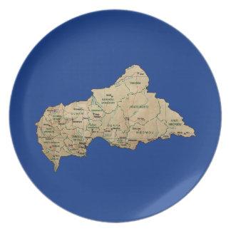 Centrafrique Map Plate