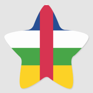 Central Africa/African Republic Flag Star Sticker