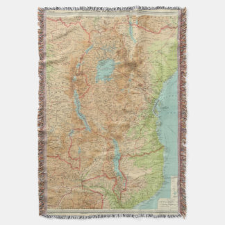 Central Africa eastern section Throw Blanket