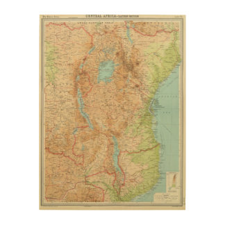 Central Africa eastern section Wood Canvases