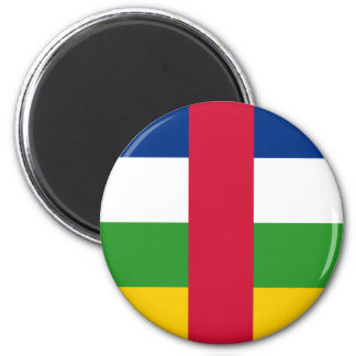 central african republic 6 cm round magnet