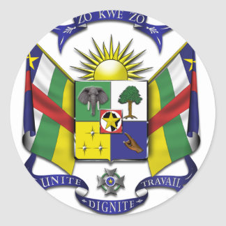 Central African Republic CF Classic Round Sticker