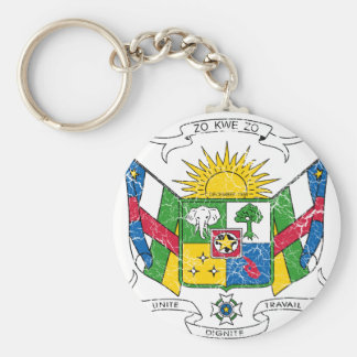 Central African Republic Coat Of Arms Key Ring