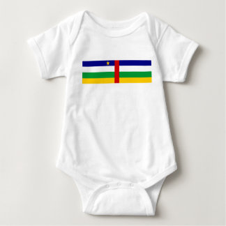 Central African Republic country flag symbol long Baby Bodysuit