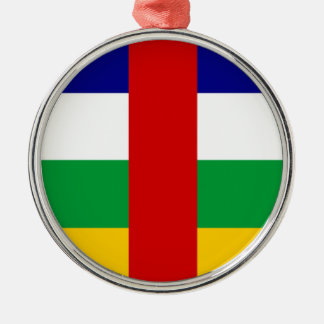 Central African Republic country flag symbol long Christmas Ornament