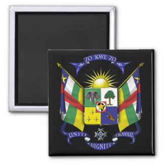 central african republic emblem square magnet