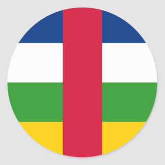 Central African Republic Flag CF Classic Round Sticker