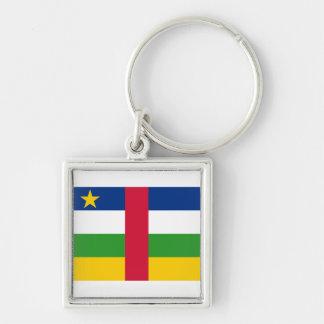 Central African Republic Flag CF Key Ring