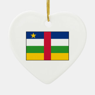 Central African Republic Flag Christmas Tree Ornaments