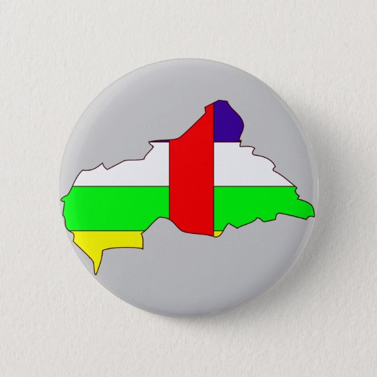 Central African Republic flag map 6 Cm Round Badge