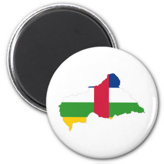 Central African Republic Flag map CF 6 Cm Round Magnet