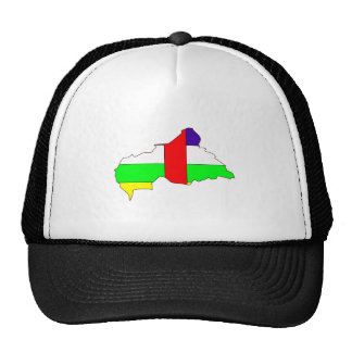 Central African Republic Flag Map full size Cap