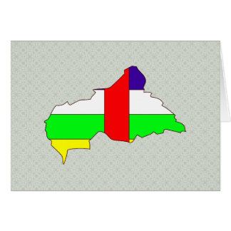 Central African Republic Flag Map full size Greeting Card