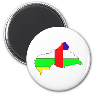 Central African Republic Flag Map full size Refrigerator Magnets