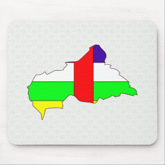 Central African Republic Flag Map full size Mouse Pads