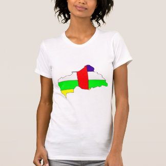 Central African Republic Flag Map full size Shirts